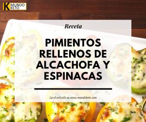 chile relleno de alcachofa y espinaca