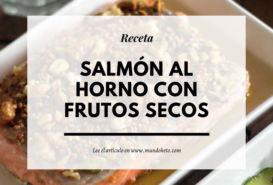Salmón al horno con frutos secos